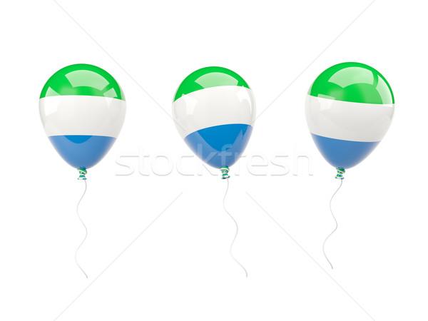 Air balloons with flag of sierra leone Stock photo © MikhailMishchenko