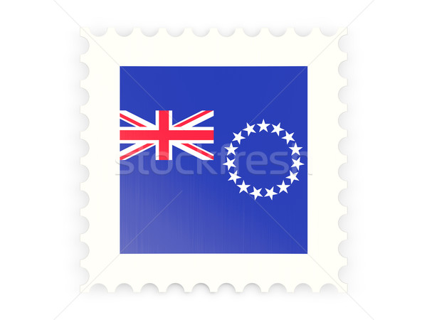 почтовая марка икона Кука изолированный белый Сток-фото © MikhailMishchenko