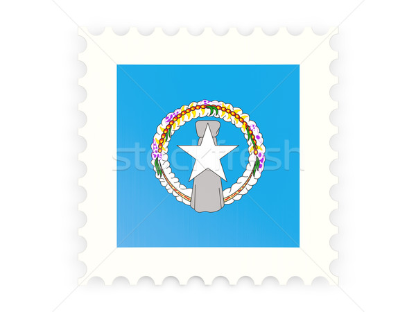 Postage stamp icon of northern mariana islands Stock photo © MikhailMishchenko