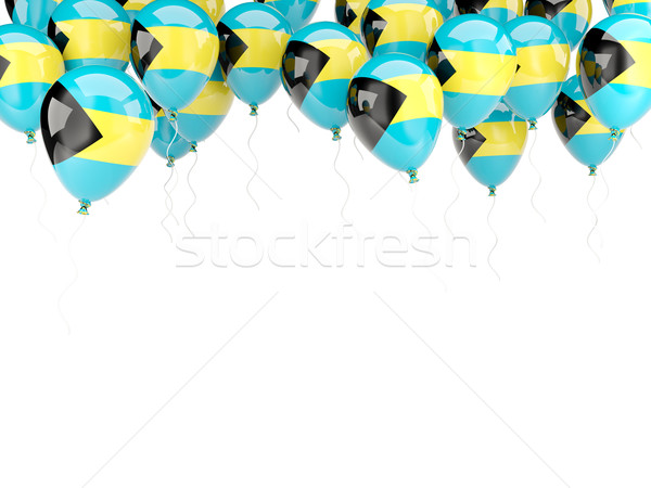 Balloon frame with flag of bahamas Stock photo © MikhailMishchenko