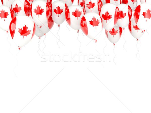 Balloon frame with flag of canada Stock photo © MikhailMishchenko