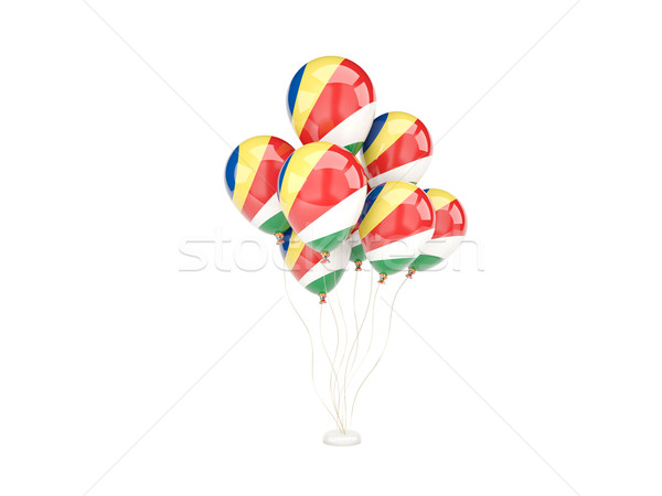 Stock photo: Flying balloons with flag of seychelles