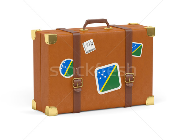 Suitcase with flag of solomon islands Stock photo © MikhailMishchenko