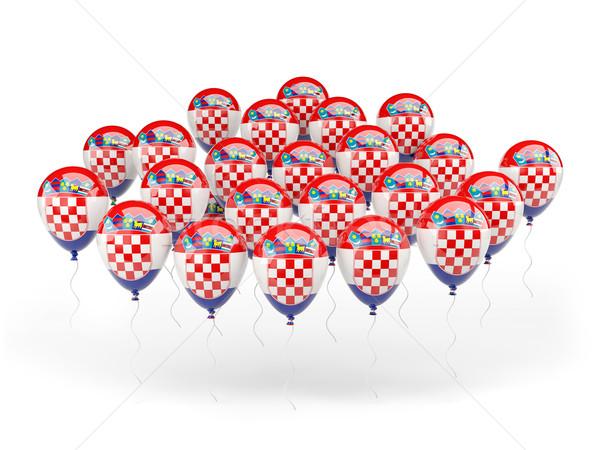 шаров флаг Хорватия изолированный белый стране Сток-фото © MikhailMishchenko