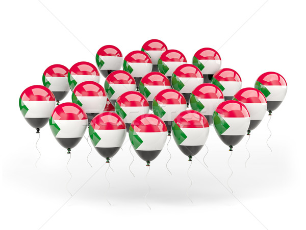 Ballonnen vlag Soedan geïsoleerd witte reizen Stockfoto © MikhailMishchenko