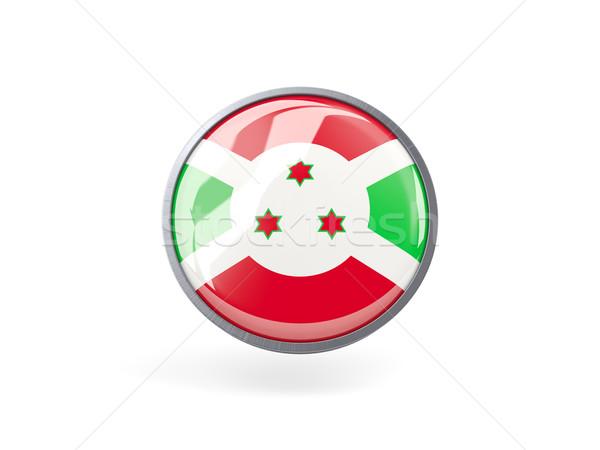 Foto stock: ícone · bandeira · Burundi · metal · quadro · viajar