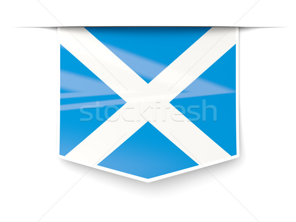 Square label with flag of scotland Stock photo © MikhailMishchenko