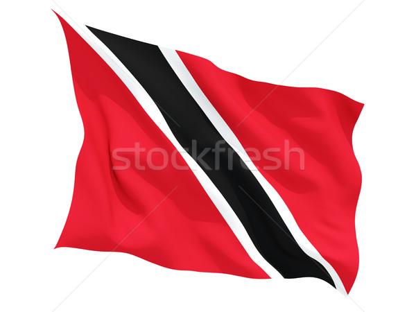 Waving flag of trinidad and tobago Stock photo © MikhailMishchenko