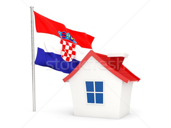 House with flag of croatia Stock photo © MikhailMishchenko