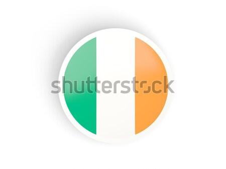 Ikona banderą Irlandia odizolowany biały podpisania Zdjęcia stock © MikhailMishchenko