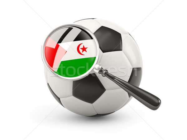 Foto stock: Fútbol · ampliada · bandera · occidental · sáhara · aislado