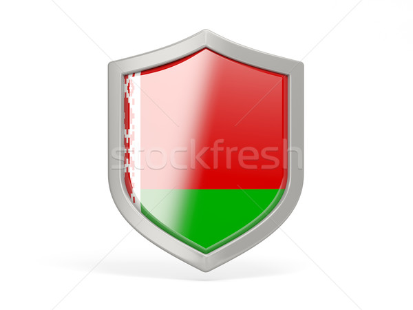 Shield icon with flag of belarus Stock photo © MikhailMishchenko
