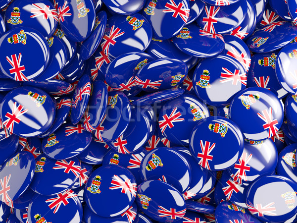 Background with round pins with flag of cayman islands Stock photo © MikhailMishchenko