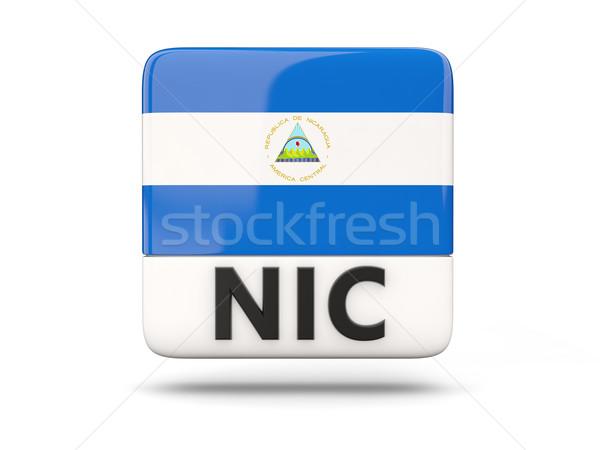 Tér ikon zászló Nicaragua iso kód Stock fotó © MikhailMishchenko