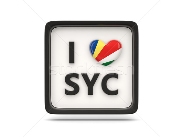 Amor Seychelles assinar isolado branco bandeira Foto stock © MikhailMishchenko