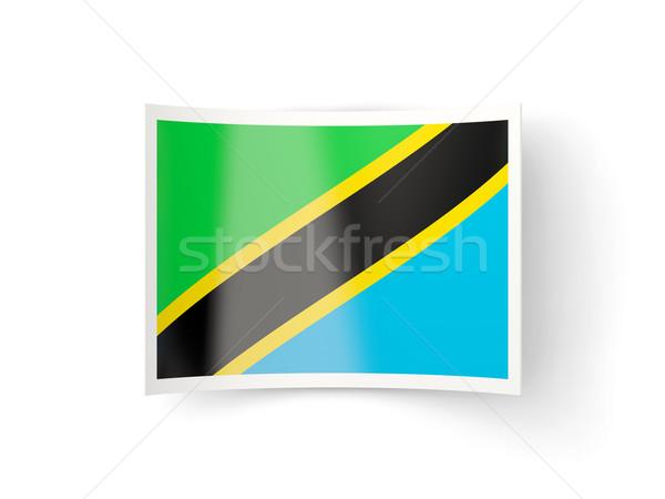 Ikon bayrak Tanzanya yalıtılmış beyaz ülke Stok fotoğraf © MikhailMishchenko