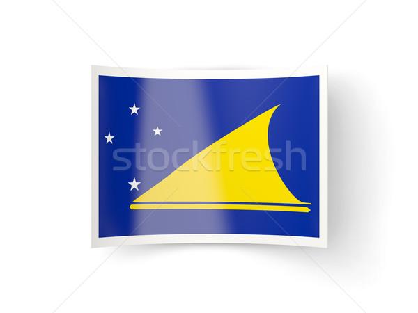 Bent icon with flag of tokelau Stock photo © MikhailMishchenko