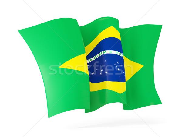 フラグ ブラジル 3次元の図 孤立した 白 ストックフォト © MikhailMishchenko