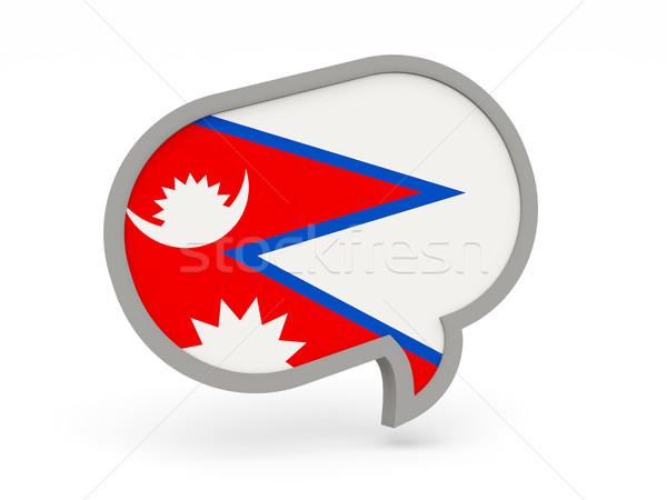 Chat icon with flag of nepal Stock photo © MikhailMishchenko