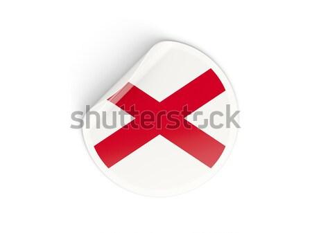 флаг наклейку изолированный белый 3d иллюстрации Label Сток-фото © MikhailMishchenko
