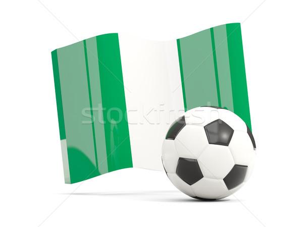 Zdjęcia stock: Piłka · nożna · banderą · odizolowany · biały · 3d · ilustracji
