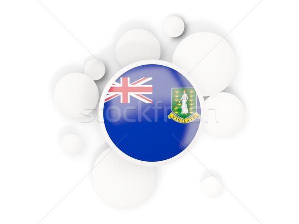 Zászló szűz szigetek brit körök minta Stock fotó © MikhailMishchenko