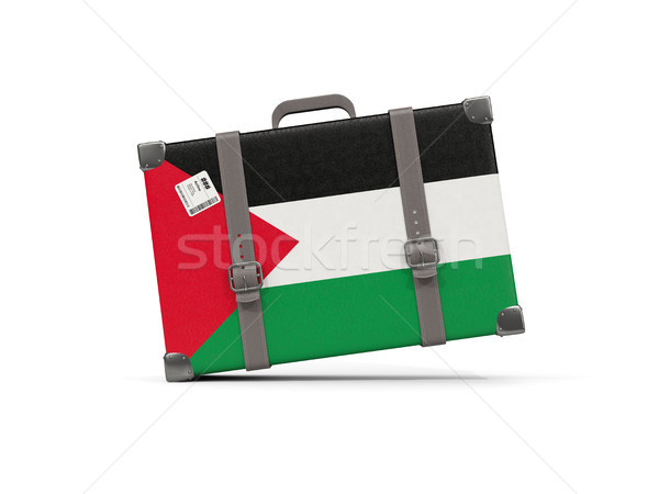Luggage with flag of palestinian territory. Suitcase isolated on Stock photo © MikhailMishchenko