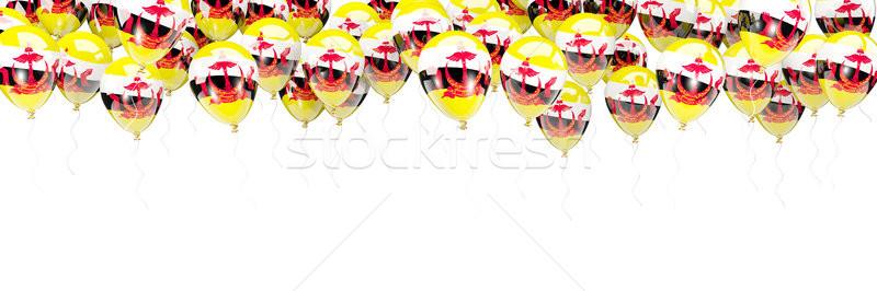 шаров кадр флаг Бруней изолированный белый Сток-фото © MikhailMishchenko