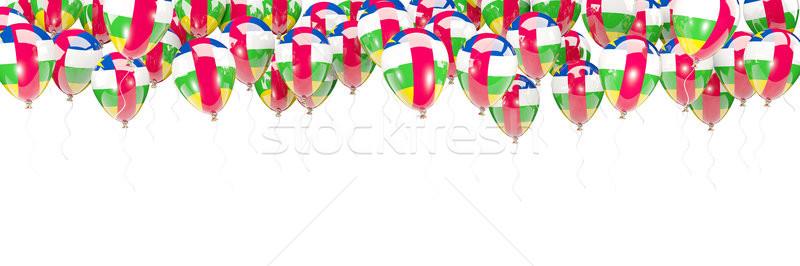 Ballonnen frame vlag centraal afrikaanse republiek Stockfoto © MikhailMishchenko