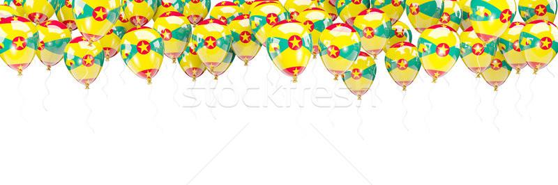 Ballonnen frame vlag Grenada geïsoleerd witte Stockfoto © MikhailMishchenko