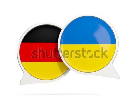 Chat buborékok Németország Ukrajna izolált fehér Stock fotó © MikhailMishchenko