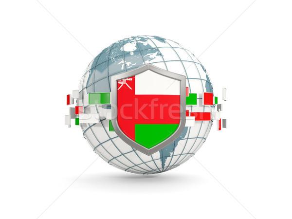 мира щит флаг Оман изолированный белый Сток-фото © MikhailMishchenko