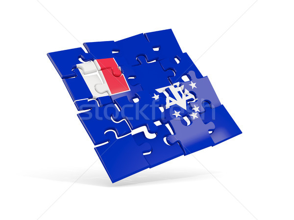Puzzle flag of french southern territories isolated on white Stock photo © MikhailMishchenko