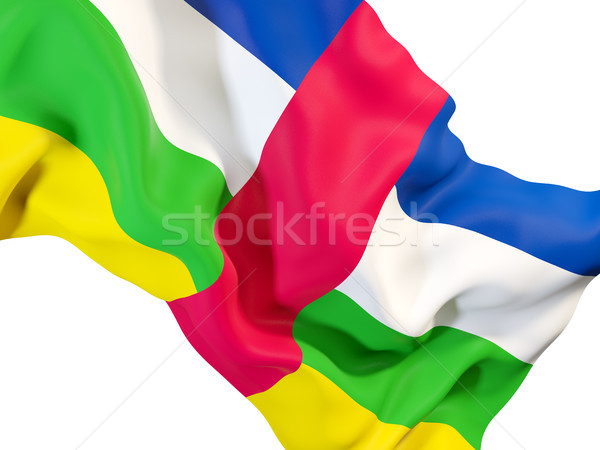 Vlag centraal afrikaanse republiek Stockfoto © MikhailMishchenko