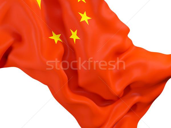 Waving flag of china Stock photo © MikhailMishchenko