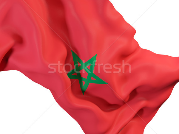 Waving flag of morocco Stock photo © MikhailMishchenko
