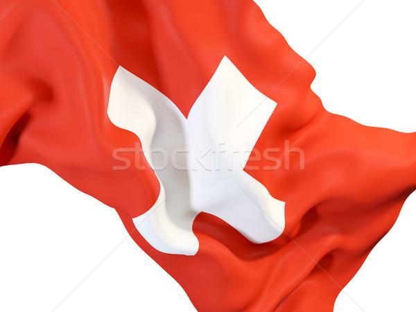 フラグ スイス クローズアップ 3次元の図 ファブリック ストックフォト © MikhailMishchenko