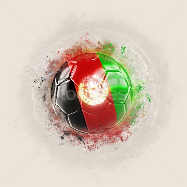 Grunge Fußball Flagge Afghanistan 3D-Darstellung Welt Stock foto © MikhailMishchenko