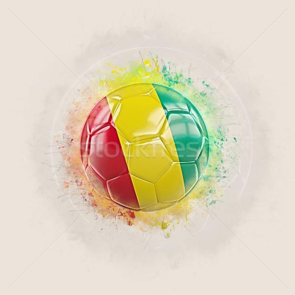 Grunge futebol bandeira Guiné ilustração 3d mundo Foto stock © MikhailMishchenko