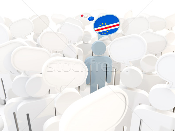 Man with flag of cape verde in a crowd Stock photo © MikhailMishchenko