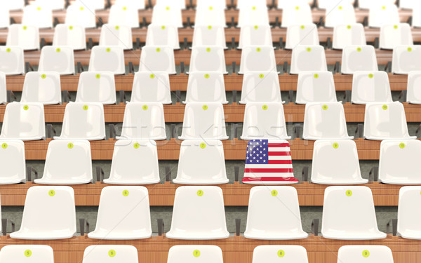 Stadium seat with flag of united states of america Stock photo © MikhailMishchenko