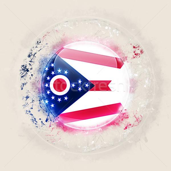 Ohio vlag grunge icon Verenigde Staten lokaal Stockfoto © MikhailMishchenko