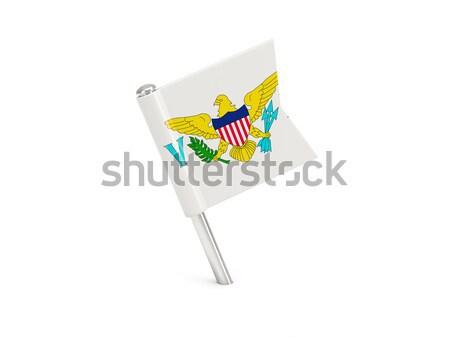 волнистый икона Иллинойс флаг США Сток-фото © MikhailMishchenko