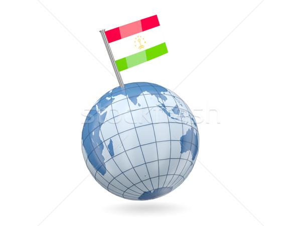 Globe with flag of tajikistan Stock photo © MikhailMishchenko
