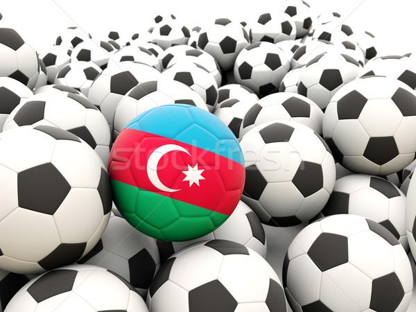 Fútbol bandera Azerbaiyán regular verano Foto stock © MikhailMishchenko