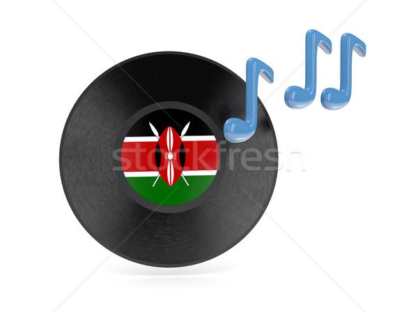 виниловых диск флаг Кения изолированный белый Сток-фото © MikhailMishchenko