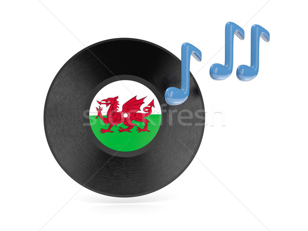 Vinyl disk with flag of wales Stock photo © MikhailMishchenko