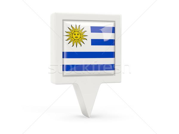 квадратный флаг икона Уругвай изолированный белый Сток-фото © MikhailMishchenko