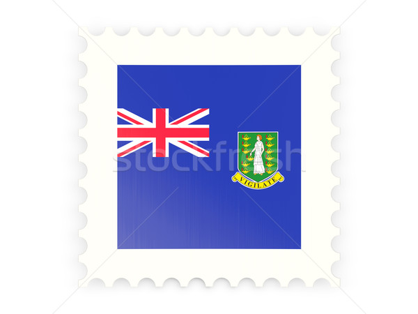 Icon brits Virgin Islands geïsoleerd witte Stockfoto © MikhailMishchenko