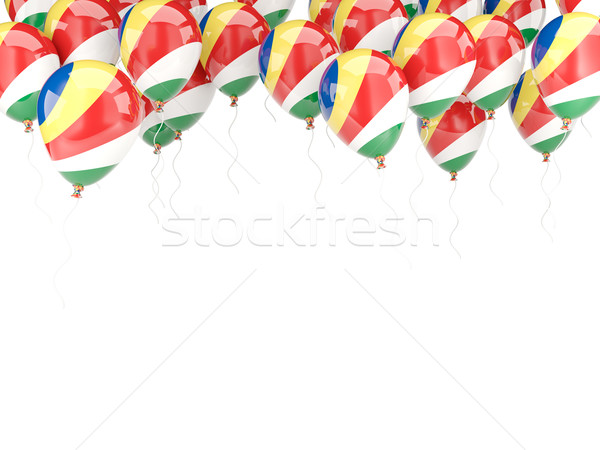 Balloon frame with flag of seychelles Stock photo © MikhailMishchenko